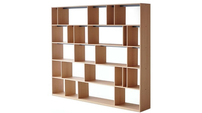 Illustration for article titled Adjustable Dividers Ensure No Book Will Ever Topple While On This Shelf