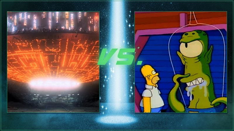 Illustration for article titled Vote Close Encounters or The Simpsons for the best alien abduction scene ever