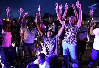 Illustration for article titled Hands Up in Ferguson; Journalists Blocked From Reporting