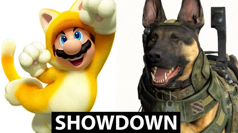 Illustration for article titled It's Time To Decide: Call of Duty Dog or Super Mario Cat?