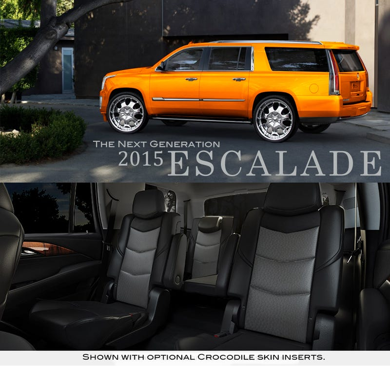Illustration for article titled Automotive Realism: 2015 Cadillac Escalade