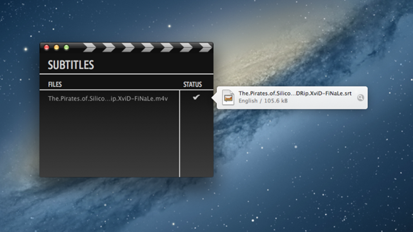 Subtitles Automatically Downloads Subtitles for Movies on Your Mac