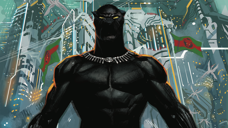 Illustration for article titled Black Panther relaunches into space in this exclusive preview