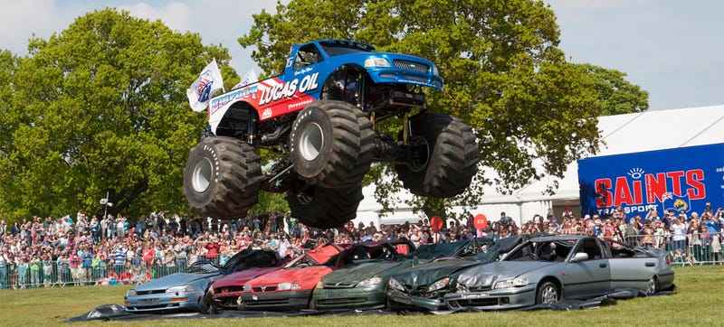 Illustration for article titled Big Foot The Monster Truck Is At Large In England