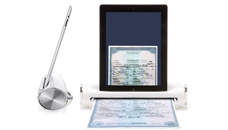 Illustration for article titled iConvert Scanner Dock Lets Your iPad Wrangle Receipts