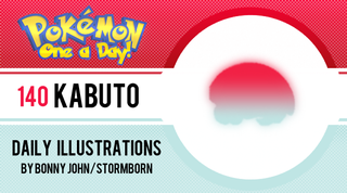 Illustration for article titled Kabuto!  Pokemon One a Day!