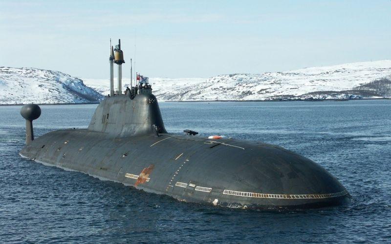 Un Akula en la superficie. Imagen: Russian MoD.