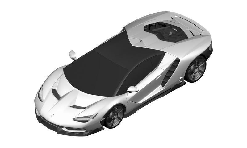 Illustration for article titled Do These Horrible Patent Images Show The Million Dollar Lamborghini Centenario?