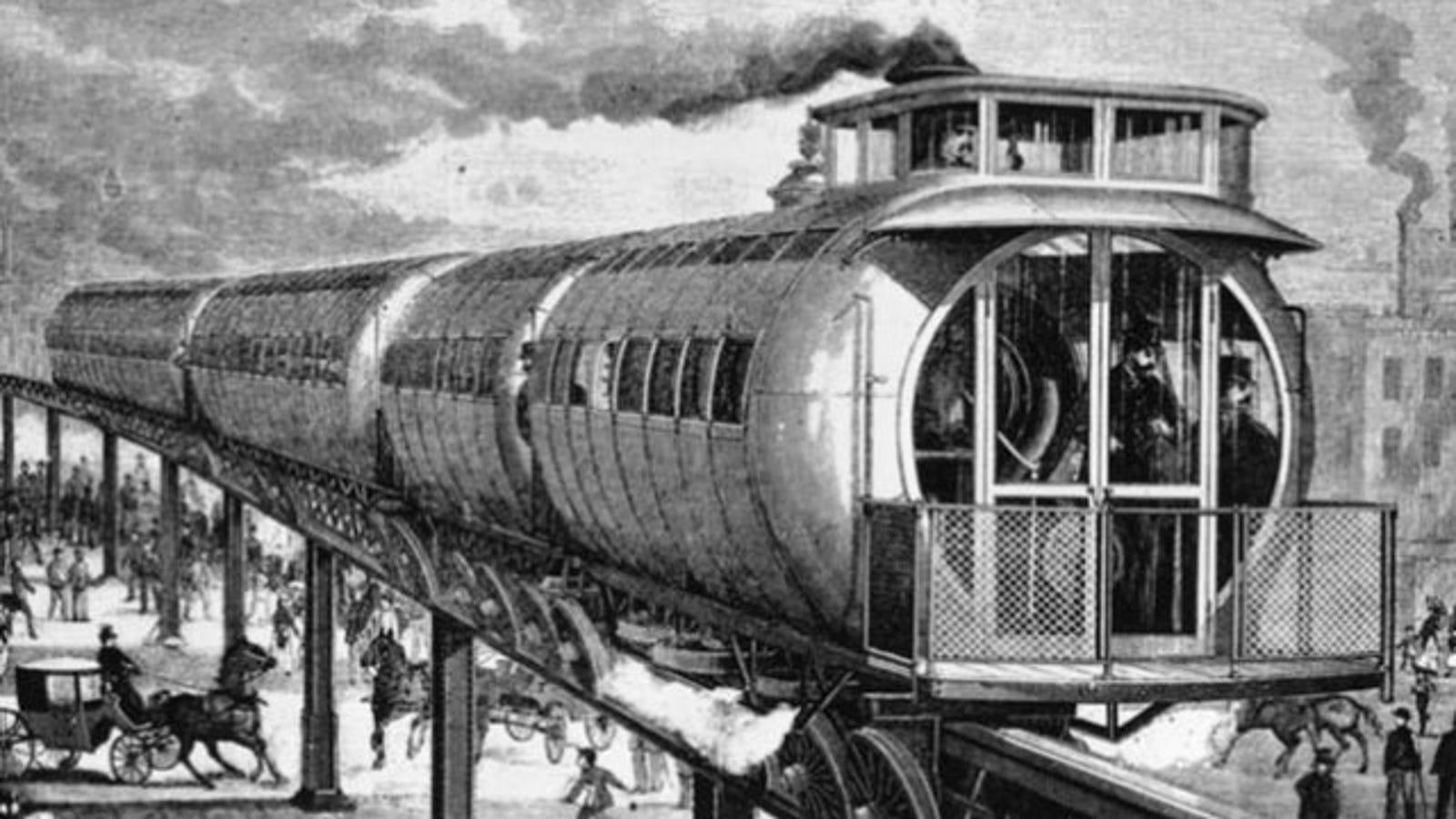 Algunos de los trenes más extraños jamás inventados