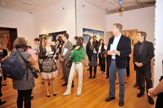 David Zwirner and Stiller (right) at auction preview (Getty Images)