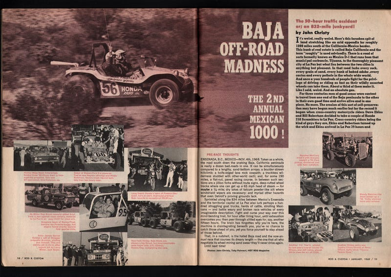 Illustration for article titled The 1968 Baja 1000 was crazier than you could imagine.