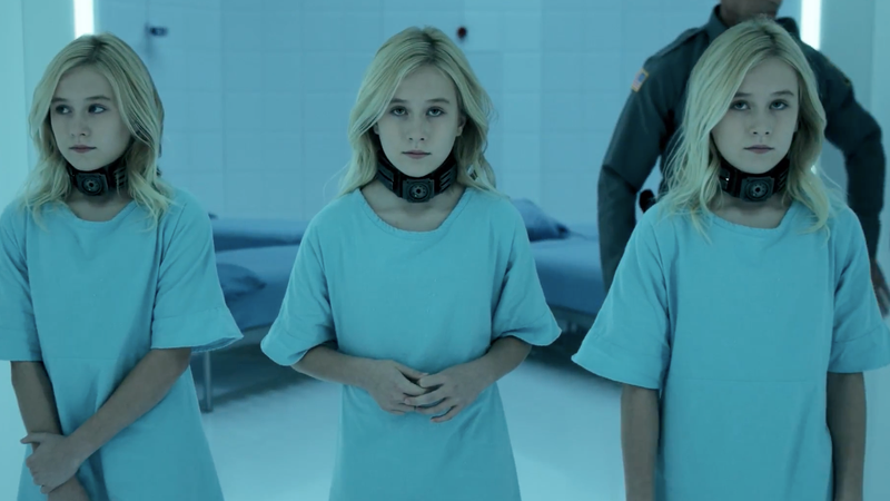 The younger Esme, Sophie, and Phoebe Frost in Fox's The Gifted.