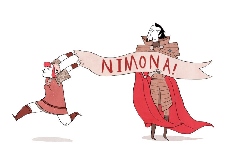 Illustration for article titled Webcomic Nimona Is Getting An Animated Adaptation! Yes, Yes, Yes!