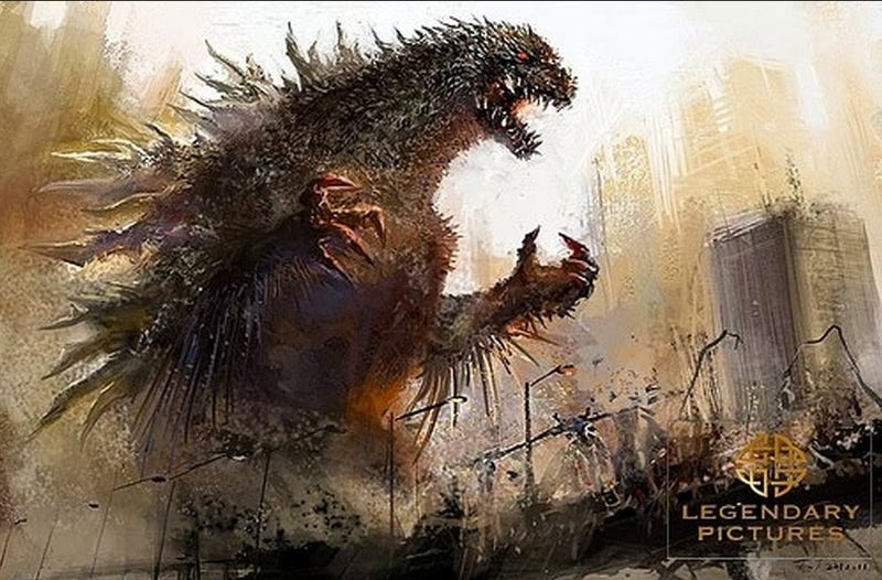 Skull Island Teaser Reveals King Kong Remake At Comic Con: Possible New Godzilla Concept Art Reveals A Much Spikier