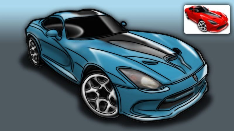 Illustration for article titled 2013 SRT Viper: Rendered From Toys