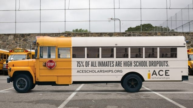 Clever Ad Turns A School Bus Into A Prison Transport