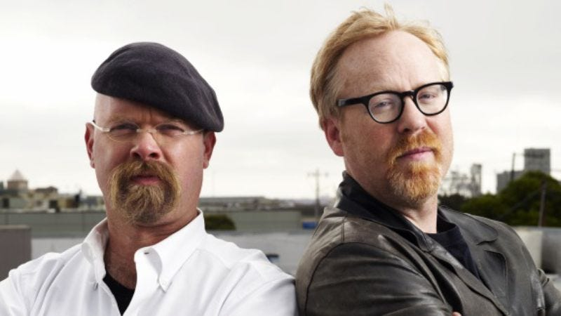 Illustration for article titled Mythbusters' Jamie Hyneman and Adam Savage