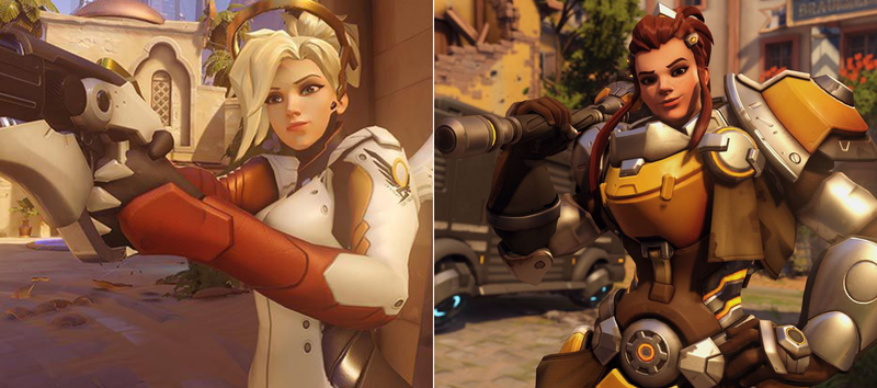 Illustration for article titled Some Overwatch Players Think Brigitte's Face Looks Too Much Like Mercy's