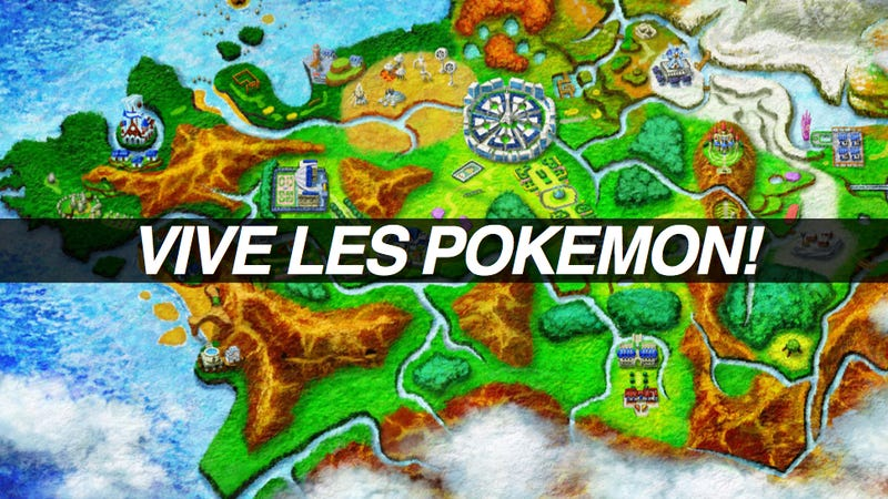 Illustration for article titled Pokémon X/Y Sure Looks Like France