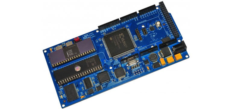 This arduino style board uses intel s year old chip