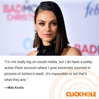 Illustration for article titled Mila Kunis Said What?!