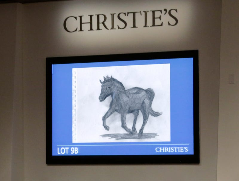 Illustration for article titled Christie's Auctioneer Throws In Sketch Of A Horse He Did To See If Anyone Bites