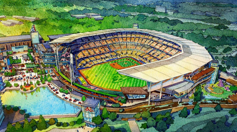 Illustration for article titled Here's What The Braves' New Ballpark Could Look Like