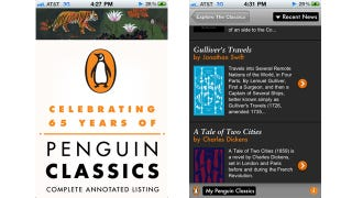 Illustration for article titled Free Penguin Classics App Doesn't Contain Ebooks, But Has Plenty More Nostalgic Features