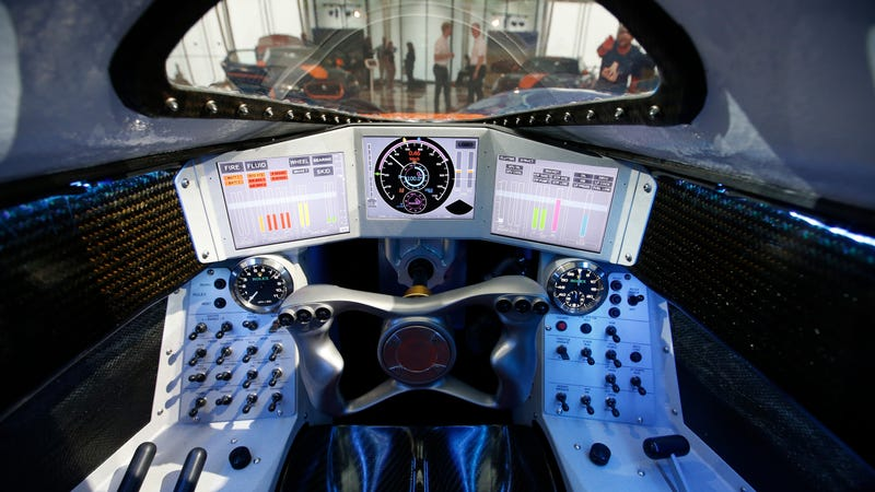 Inside the Bloodhound SSC's cockpit.