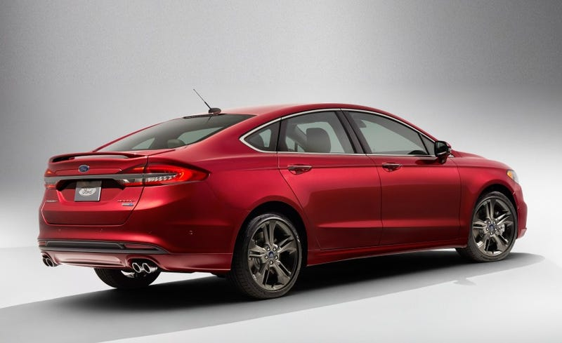 The Facelifted 2017 Ford Fusion Gets Sporty With A 325 HP Twin