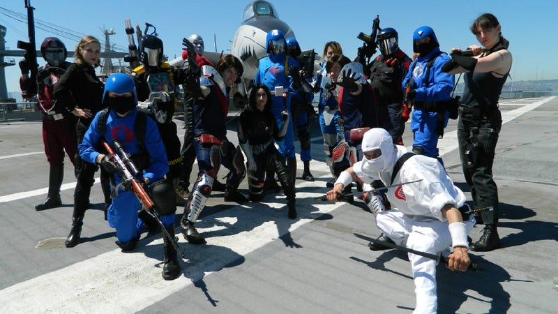 Illustration for article titled Seriously Amazing (and Funny) G.I. Joe Cosplay on a Real Aircraft Carrier