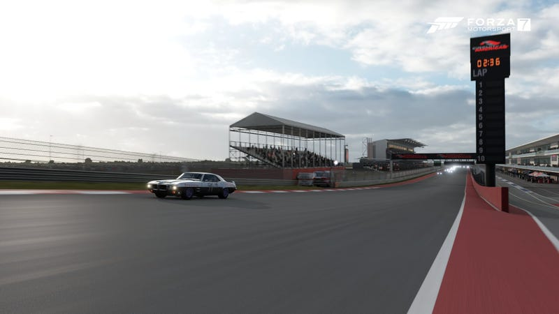 Photo from a spot that they would never let you stand at CotA...