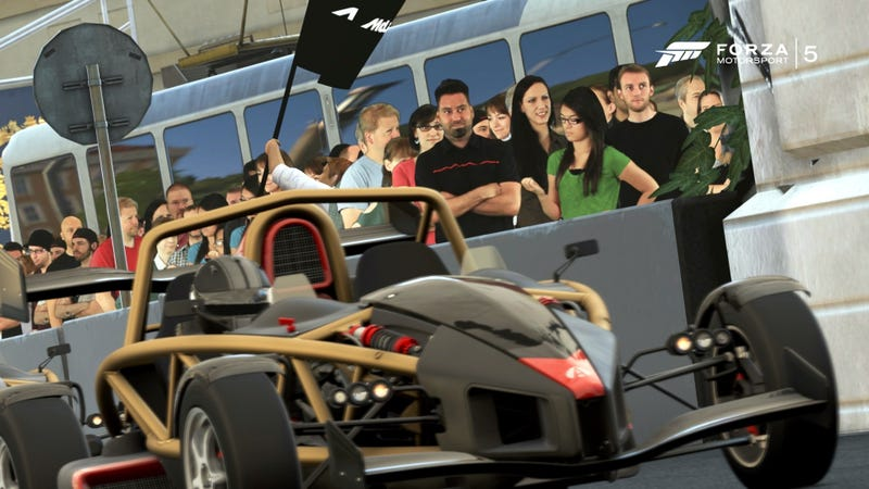 Forza's crowds seem a little... two-dimensional, wouldn't you say?