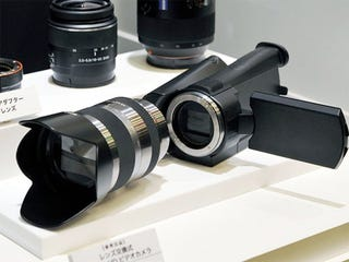 Illustration for article titled Camcorder With Interchangeable Lens Planned By Sony For Late 2010 Release