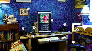 Illustration for article titled The Author's Vintage Workspace