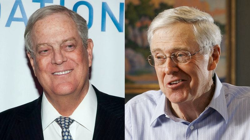 Illustration for article titled Koch Brothers Encouraging Youth To Make Voices Heard By Registering Super PAC