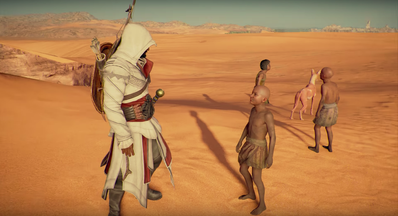 Bayek loves to help people, and so do I.
