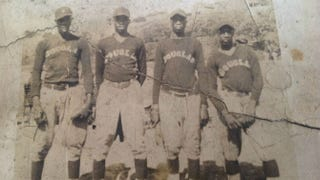 Douglas A.C. baseball team. Claude Barclay is shown on the far right.Courtesy of Barclay Family