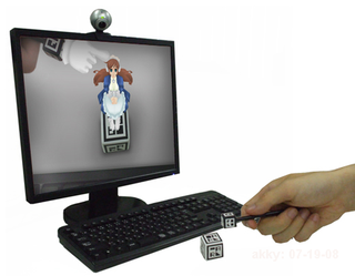 Illustration for article titled Cyber Figure Alice Creates Interactive Virtual Peepshow Right On Your Desk