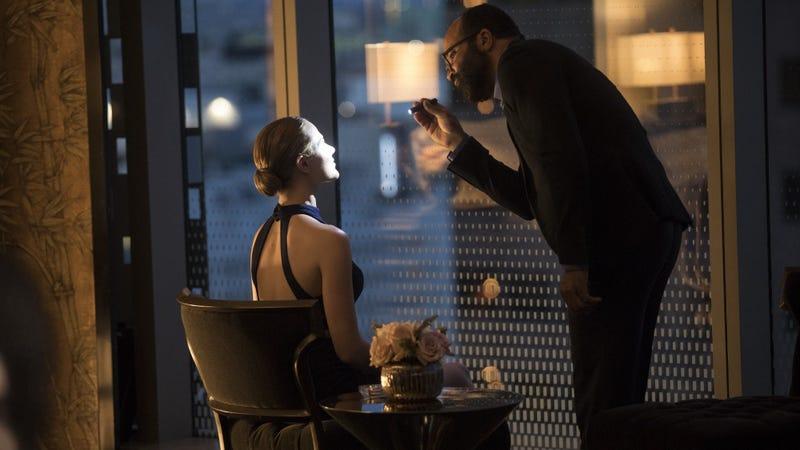 Dolores (Evan Rachel Wood) gets an inspection.