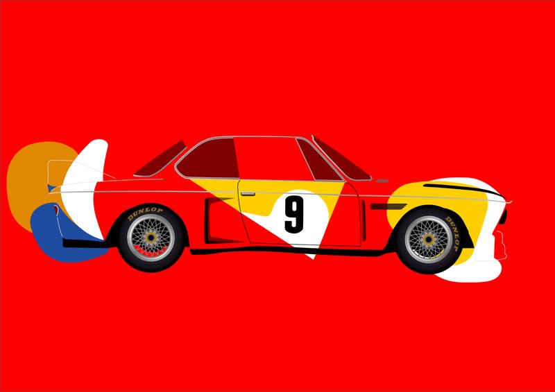 Illustration for article titled Calder Art Car Illustration Progress