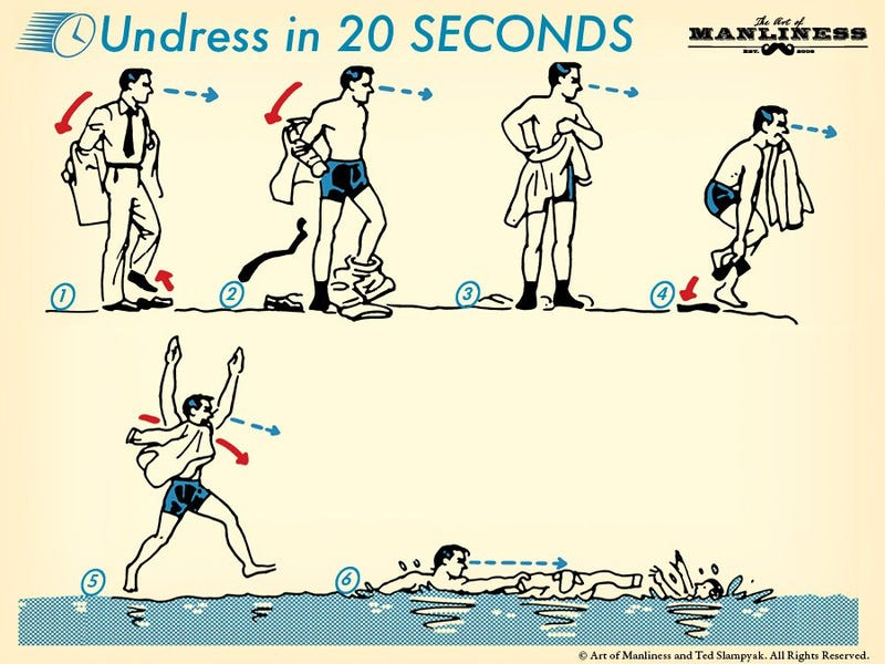 Illustration for article titled Learn to Undress In 20 Seconds to Better Save Someone Who's Drowning