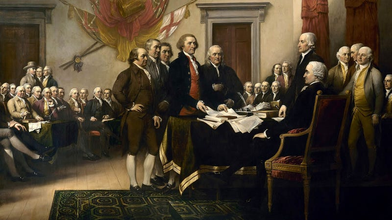 Illustration for article titled Poll Shows Increasing Number Of Voters Blame Founding Fathers For Starting America