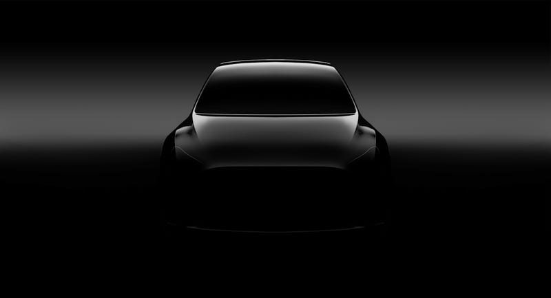 A teaser of the Model Y