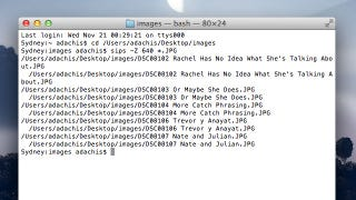 Illustration for article titled Batch Resize Images Quickly in the OS X Terminal