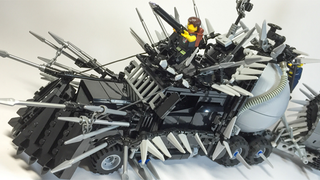 Illustration for article titled The Vehicles of Mad Max: Fury Road In Shiny LEGO Form