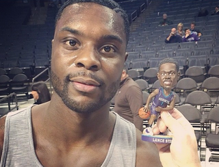 Illustration for article titled Lance Stephenson's Unimpressed With His Bobblehead