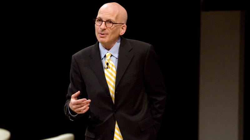 Seth Godin, whose talk is as smooth as his head, speaking at the 99 Percent Conference
