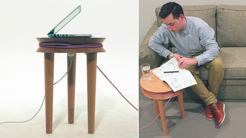 Illustration for article titled A Cable-Wrangling Stool That's Useful For More Than Just Sitting
