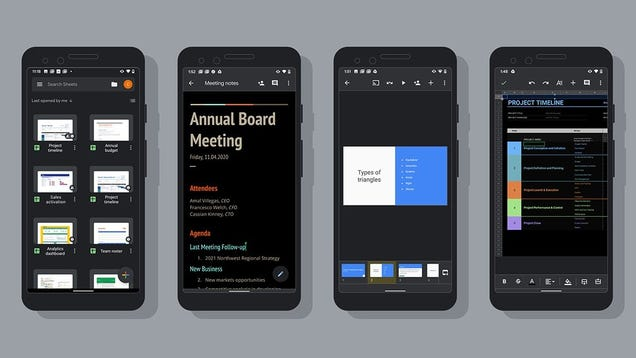 Android Users Blessed With Dark Mode Support for Google Docs, Sheets, and Slides